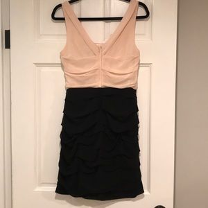 Express Dresses - Express | blush and black ruched dress